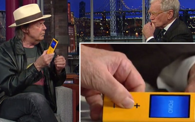 """Neil Young Reveals """"Pono"""" on Letterman"""